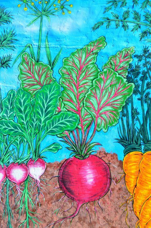 Mural Of Garden Vegetables