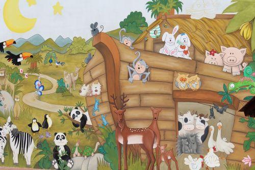 murals ark noah's ark