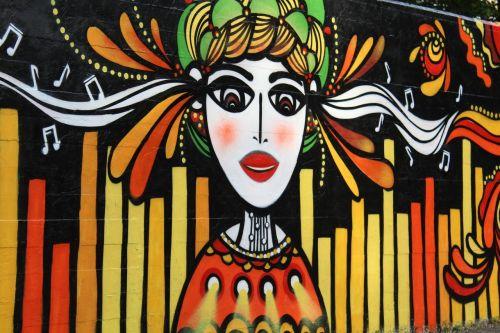 murals girl music