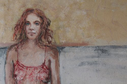 murals woman wall