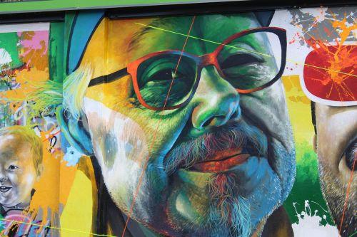 freskomis,lecco,veidas,išraiška,gatvės menas,vyras,žmogaus veidas,atrodo