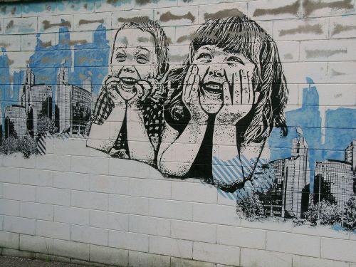 murals children girl