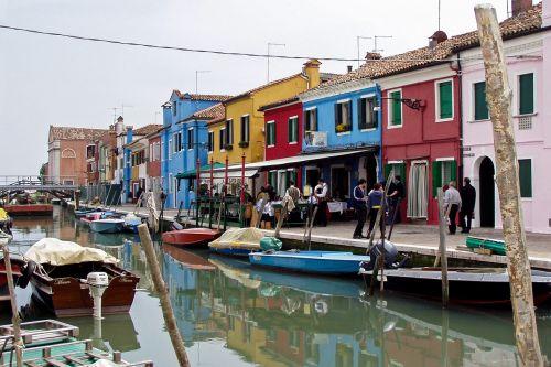 murano venice colourful houses