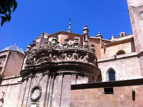 murcia murcia cathedral side view