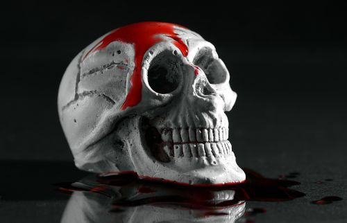 murder skull blood