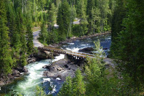 murtle river mushbowl bridge wells gray provincial park