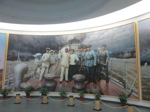 museum sun yat sen oil painting