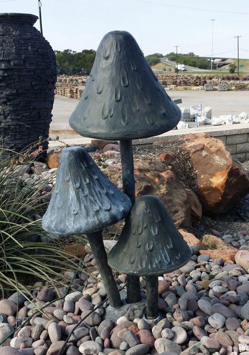 mushroom landscaping sculpture