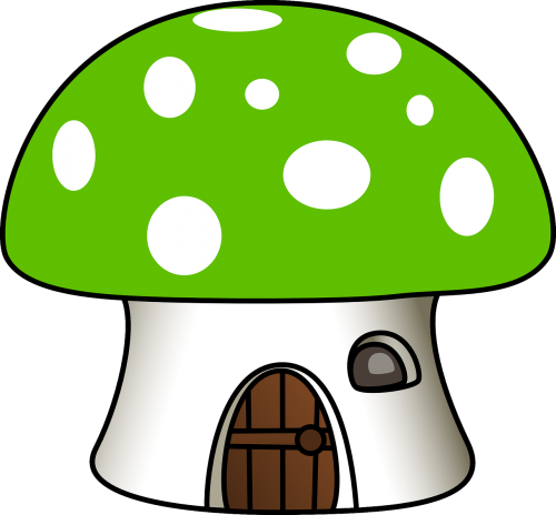 mushroom house green