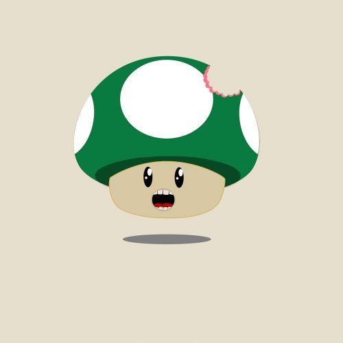 grybai, super mario, Nintendo, skaičiai, mielas, figūra, charakteris, juokinga, animacinis filmas, žalias, be honoraro mokesčio