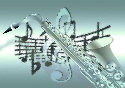 music saxophone treble clef