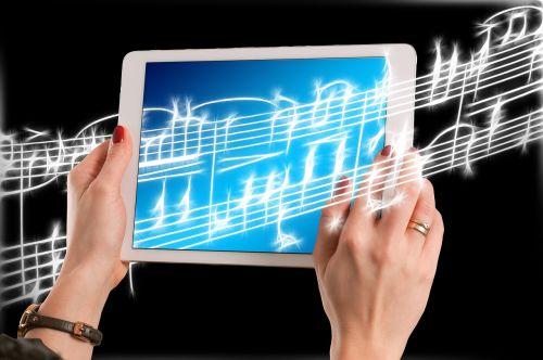 music treble clef hands