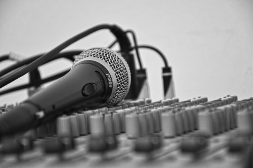 music microphone score