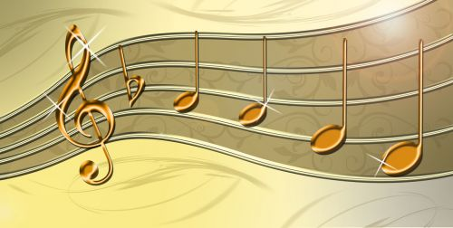 music staves clef