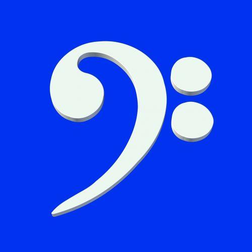 music bass clef symbol