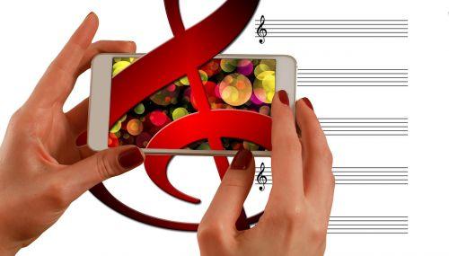 music clef smartphone