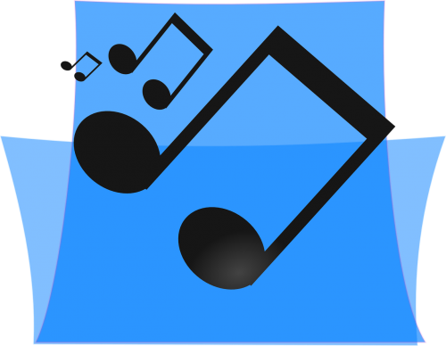 music blue folder