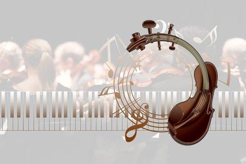 music  piano  treble clef