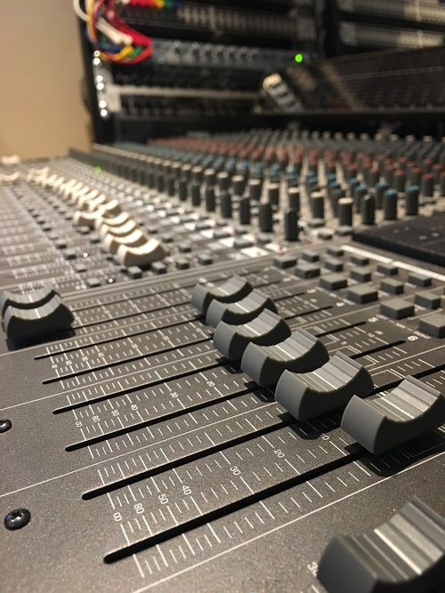 music  mixing desk  faders