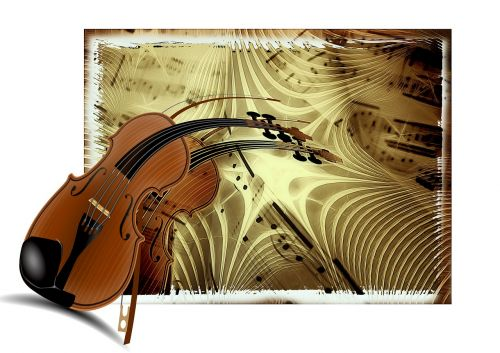 music violin treble clef