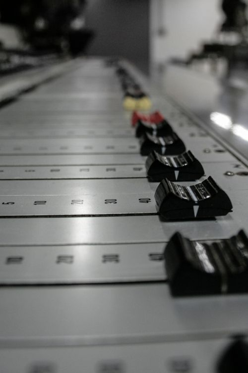 music mixing console slider