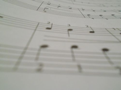 music notes paper