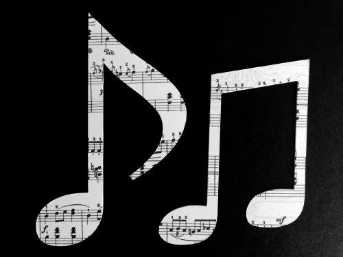music notenblatt clock