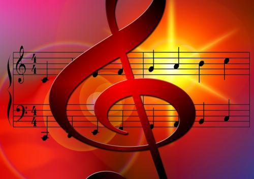 music treble clef notenblatt