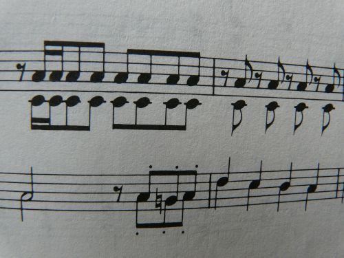 music notenblatt black