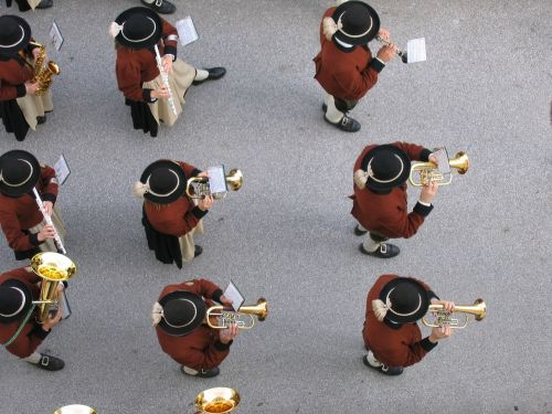 music band band uttendorf top view