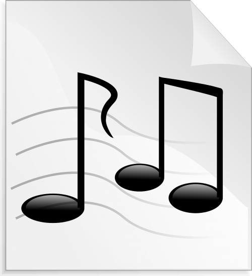 music notes audio songs
