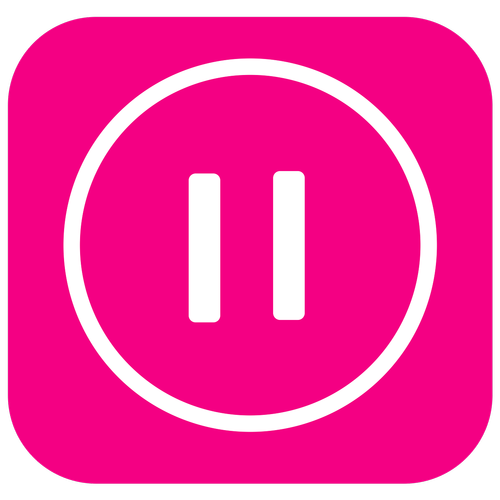 music pause icon  launcher icon  pause button