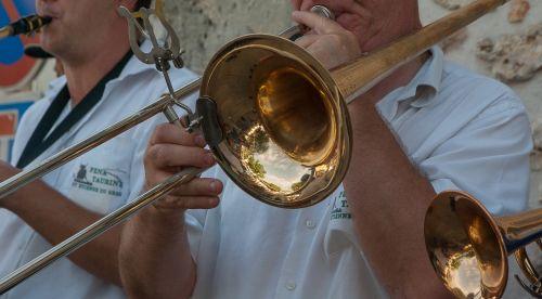 musician trombone street musician