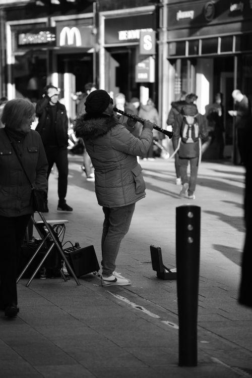 musician street performance
