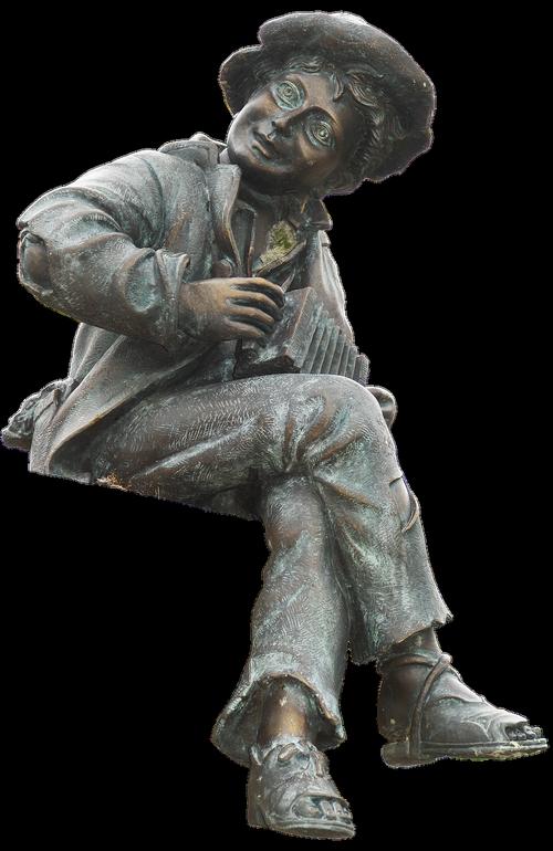 musician  sculpture  sitting