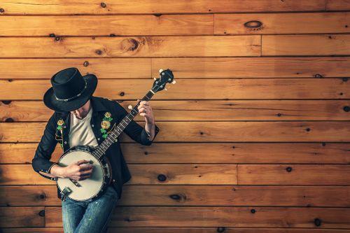 musician country song banjo