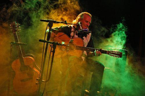 musician guitar smoke