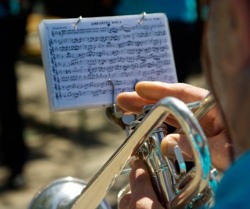 musician trumpet fingers