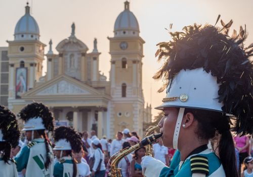 musician marching trombone