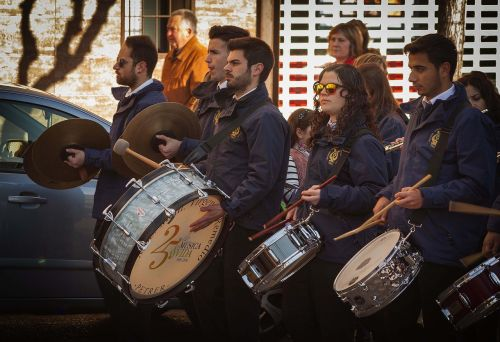 musicians percussion band
