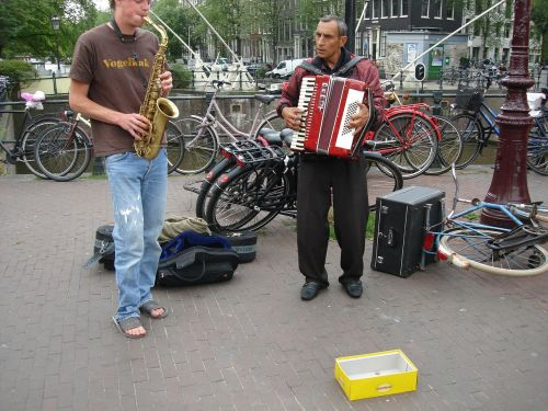 musicians street musicians accordion