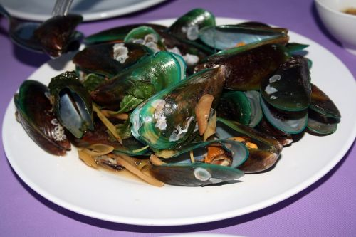 mussels eat thai asian clam dish