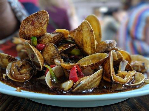mussels  street food  shelled