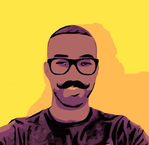 mustache black cover