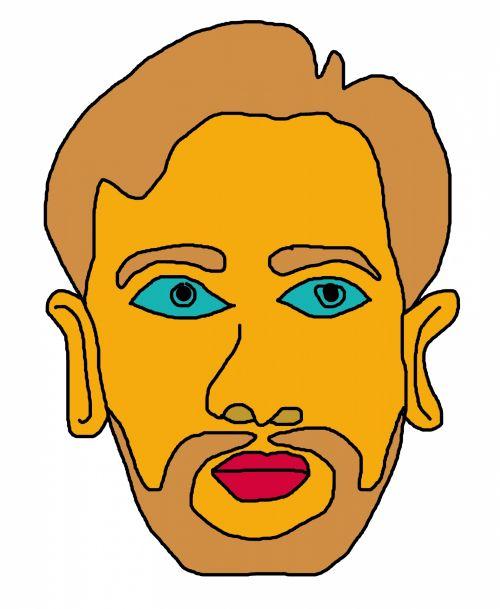 Mustache Man I