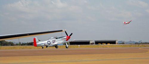Mustang At Airshow
