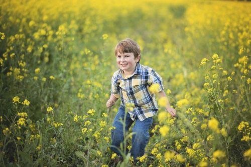 mustard flowers boy
