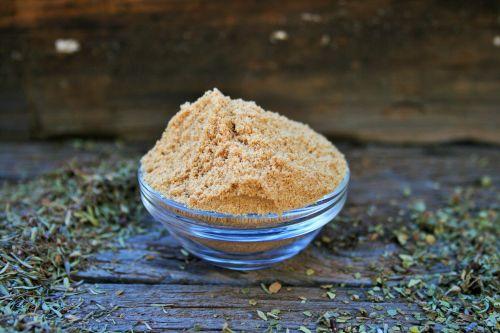 Mustard Powder In Glass Bowl