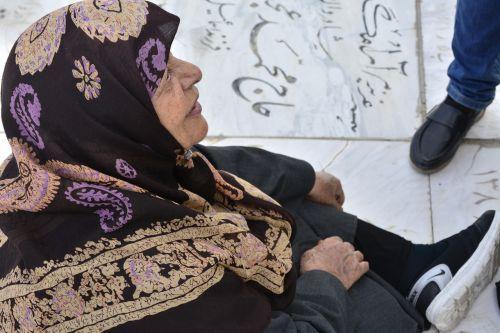 woman old headscarf