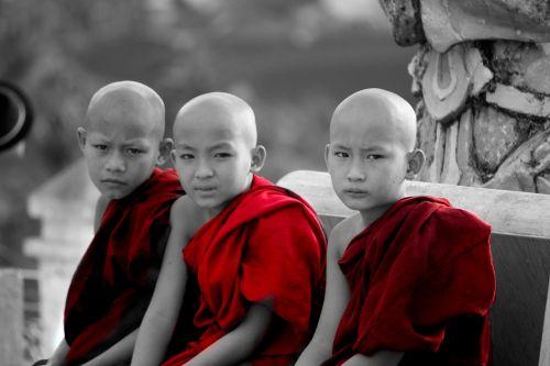 myanmar monks children